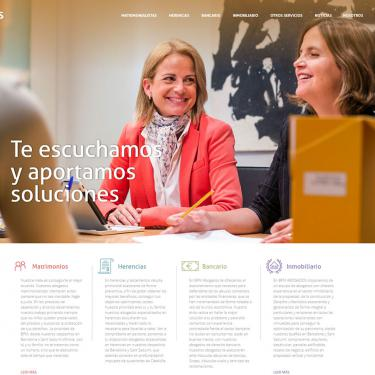 Plan de marketing online y página web para BPM Abogados