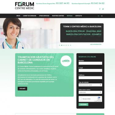 Marketing online y diseño web Centre Mèdic Fòrum