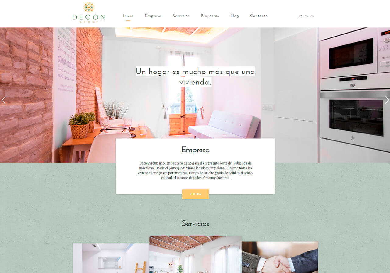 Diseño web para Decon Group