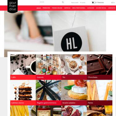 Diseño web y SEO para el e-commerce Gourmandise