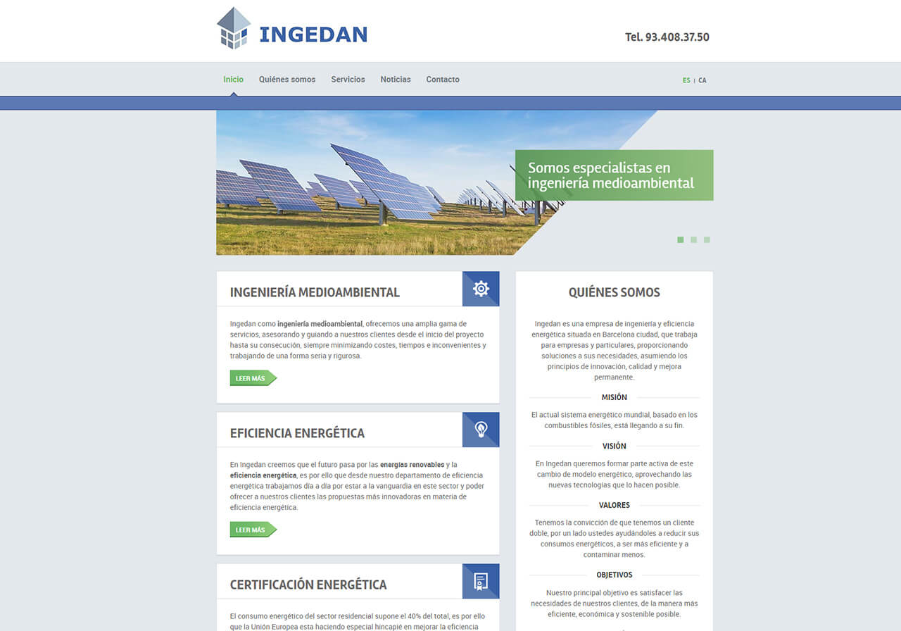 Diseño web y marketing online para Ingedan