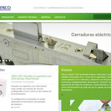 Diseño web corporativa Klesco