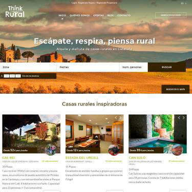 Diseño web y SEO para la web Think Rural