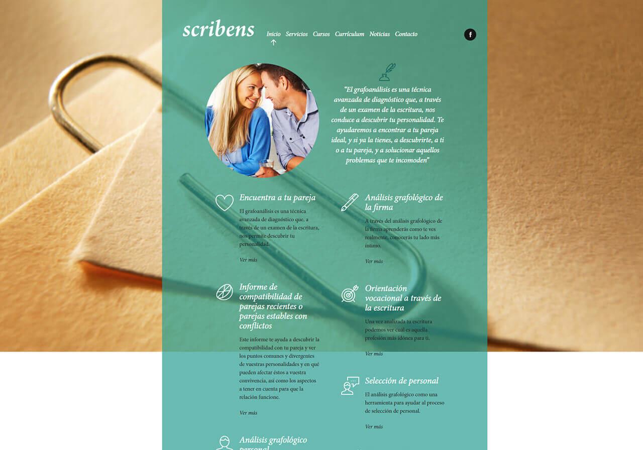 LA TEVA WEB | Diseño web para Scribens
