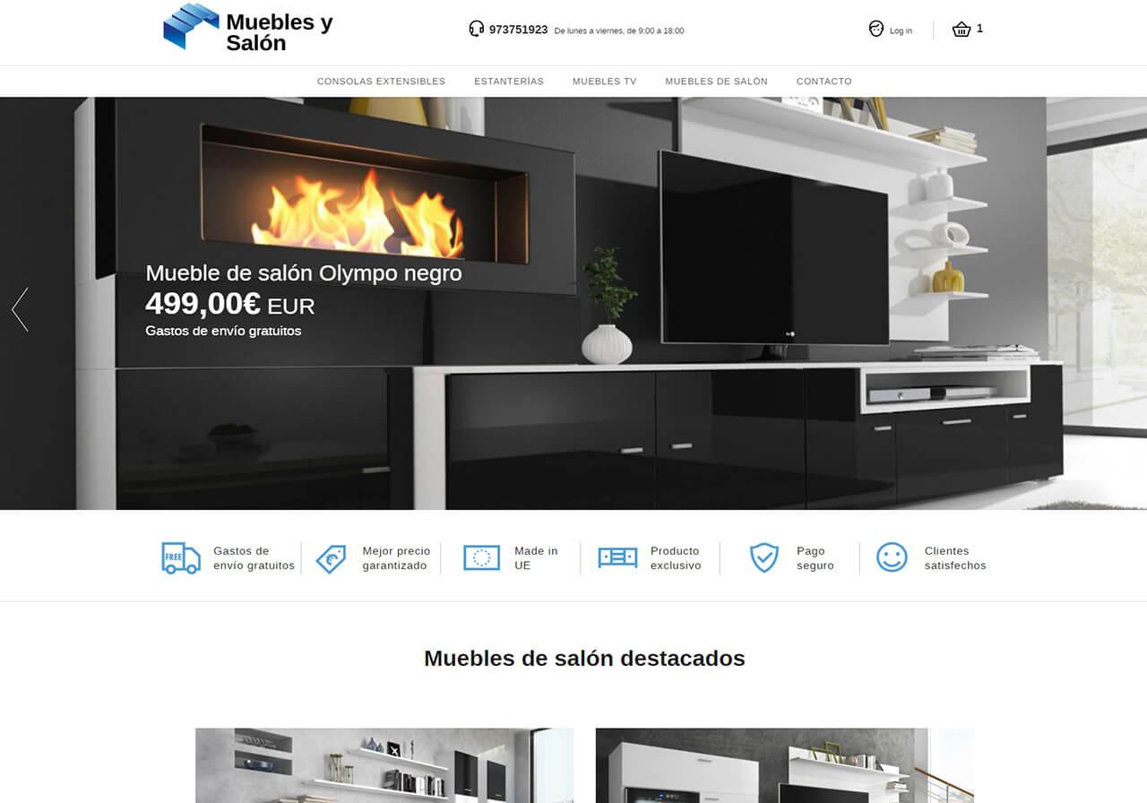 y Salón: tienda online, diseño logo y