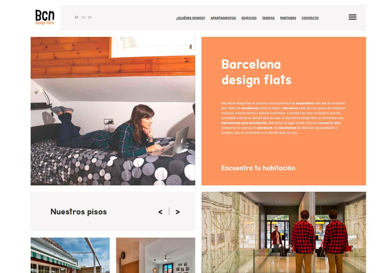 La teva web dise o web para bcn design flats - Pisos para estudiantes en barcelona ...