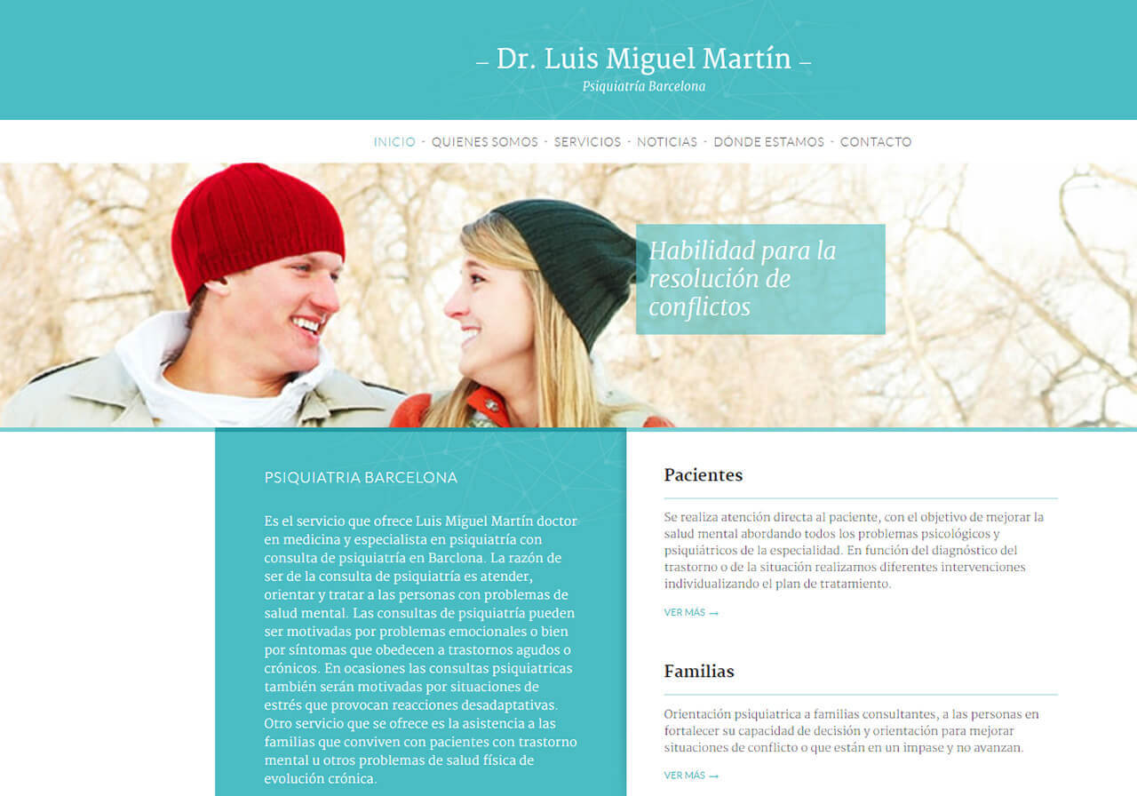 Diseño web y marketing online para Psiquiatría Barcelona