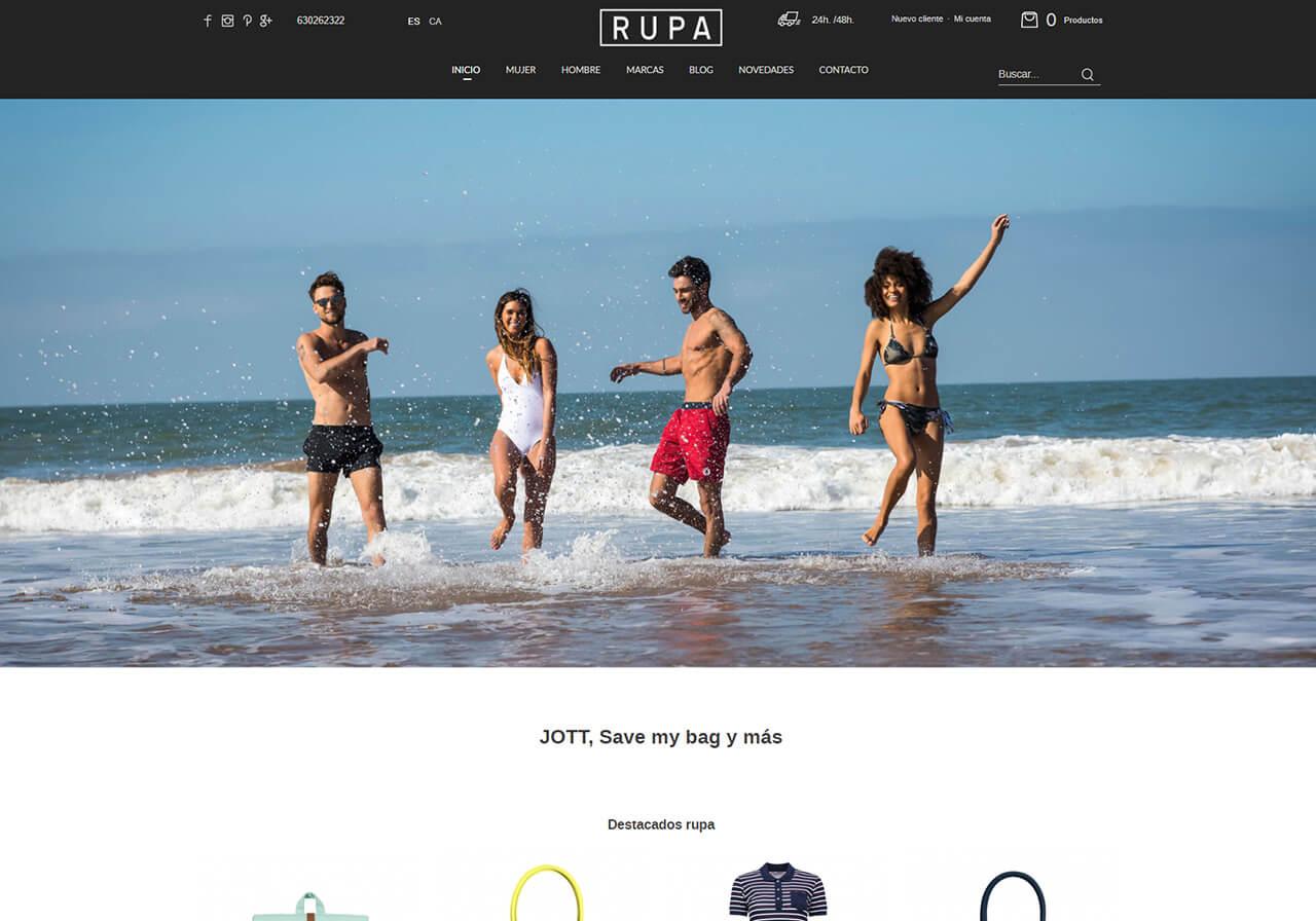 Dise o web para rupa tienda online de ropa jott y meyba for Ropa de diseno online