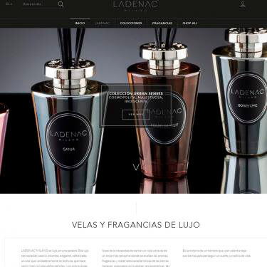 Diseño web y márketing on-line para Ladenac Milano