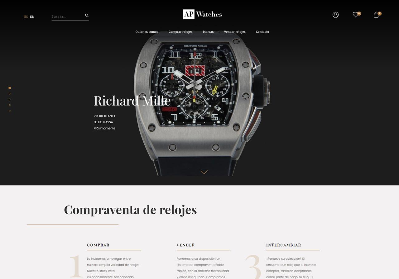 47dd1f9037cd Diseño web de una tienda de compraventa de relojes de lujo