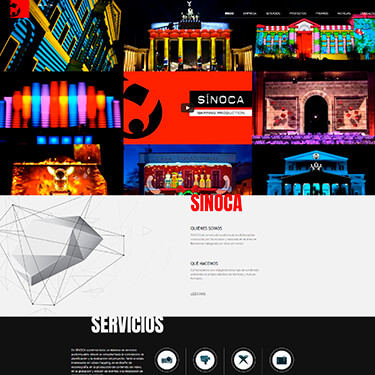 Sinoca Studio: Mapping video en Barcelona