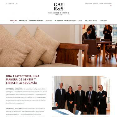 Disseny web per al web de Gay R&S