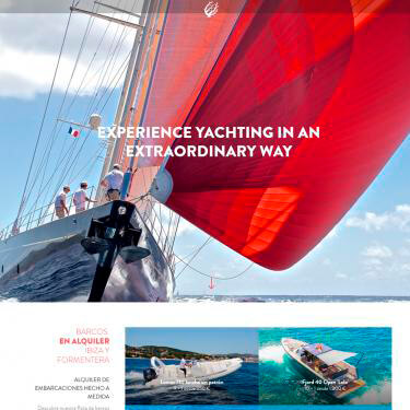 Disseny web per Coral Yachting