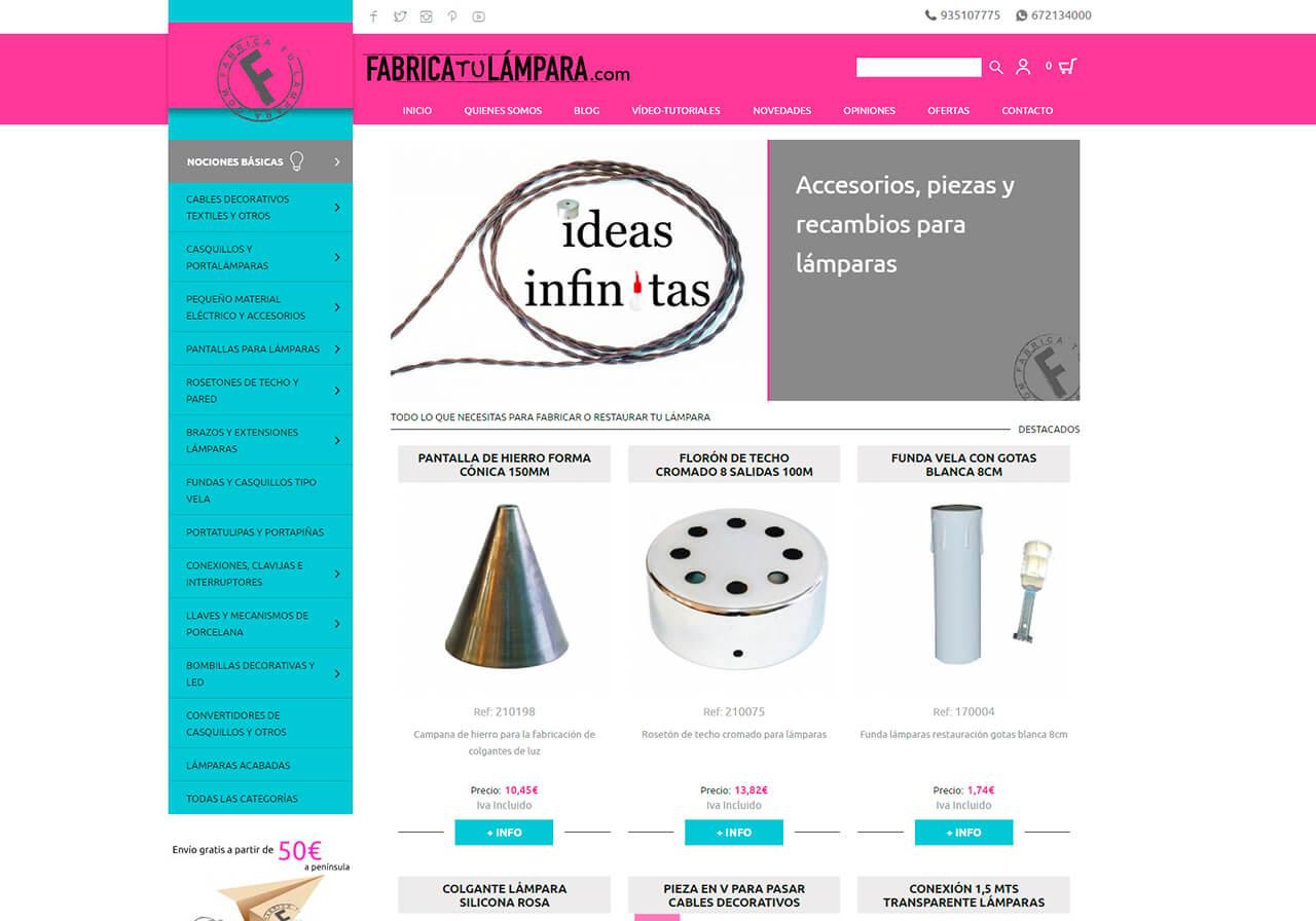 Seo i botiga online per fabrica tu l mpara - Fabrica tu lampara ...