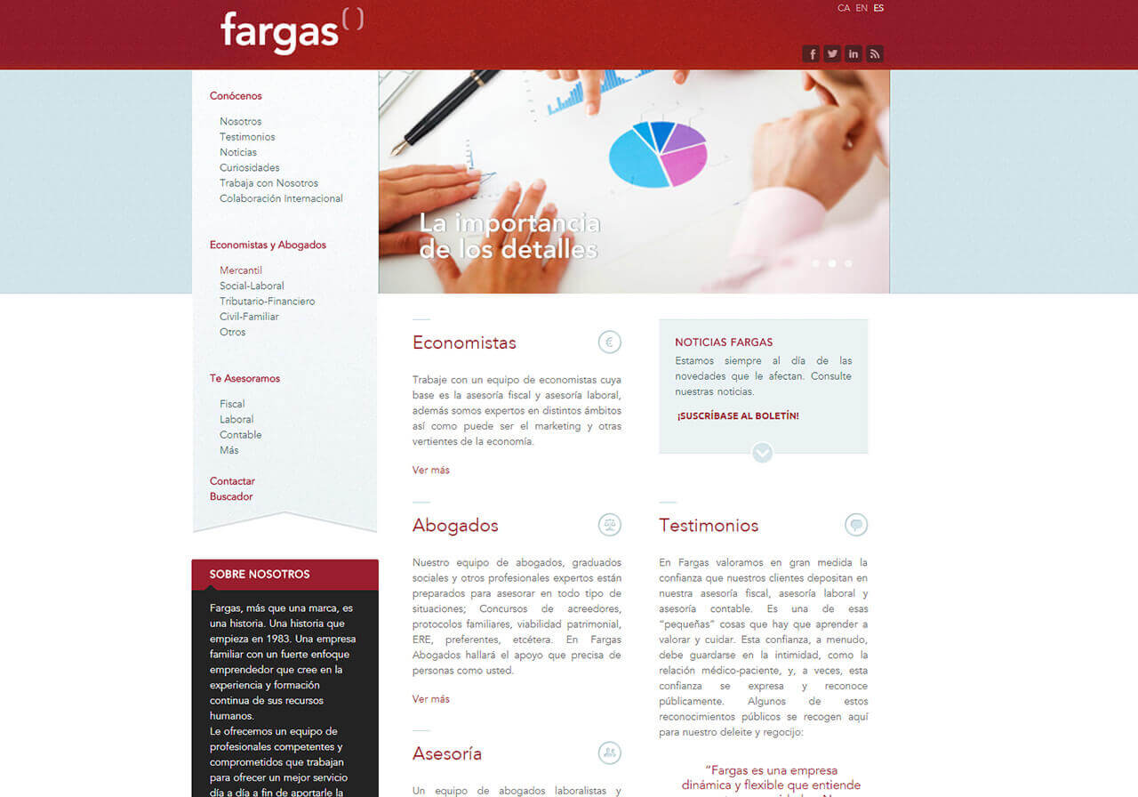 Disseny web i marketing online Fargas