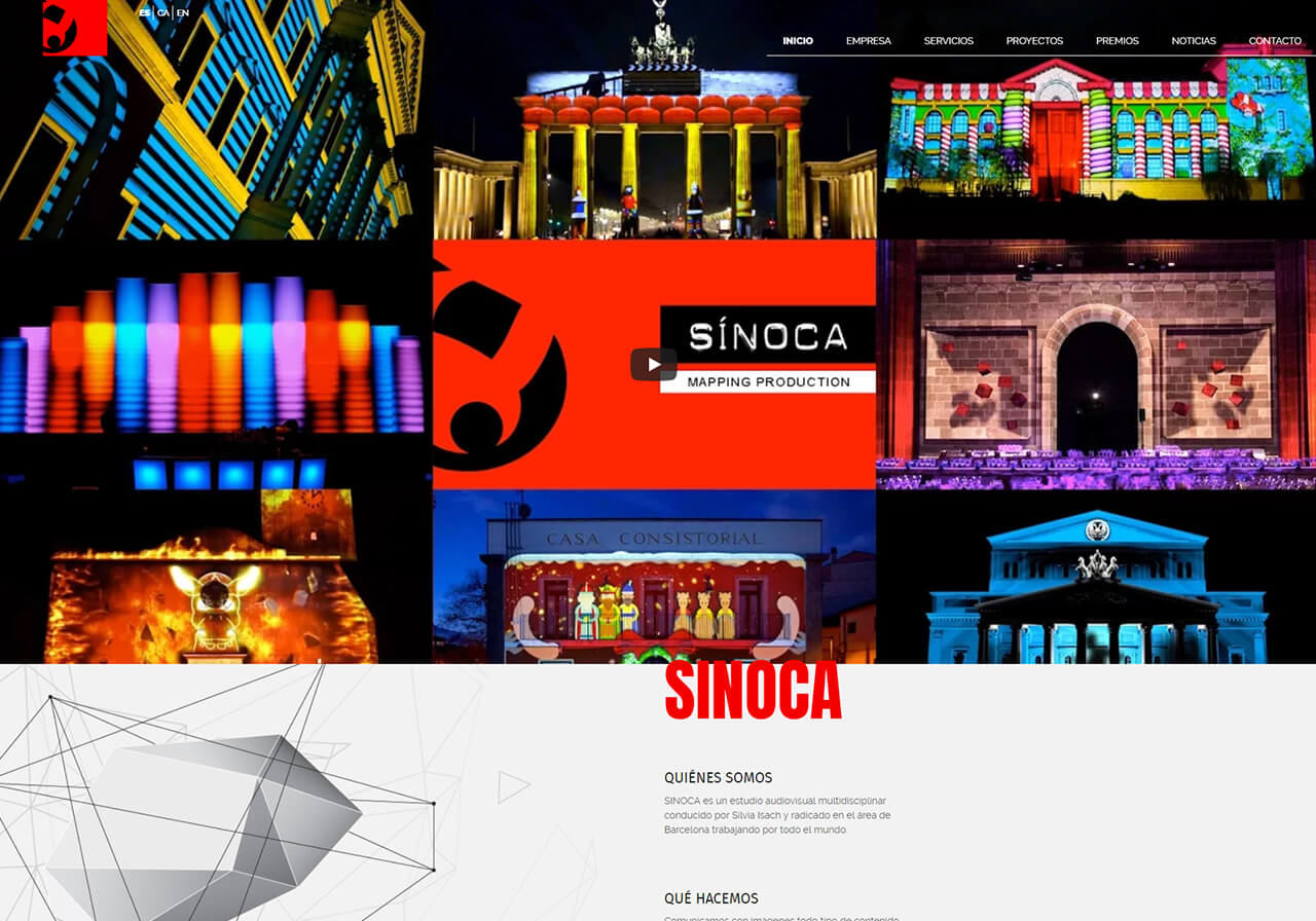 Sinoca Studio: Mapping vídeo a Barcelona