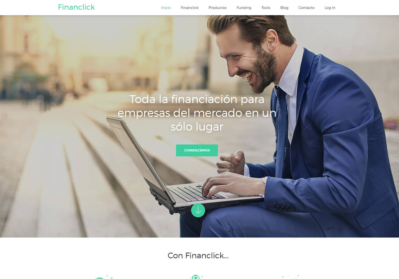 Pla de marketing online per a Financlick