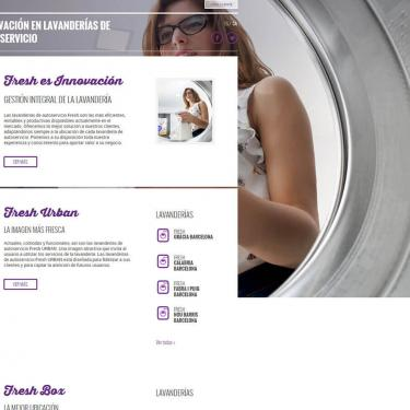 Disseny web i Marketing Online per Fresh Laundry