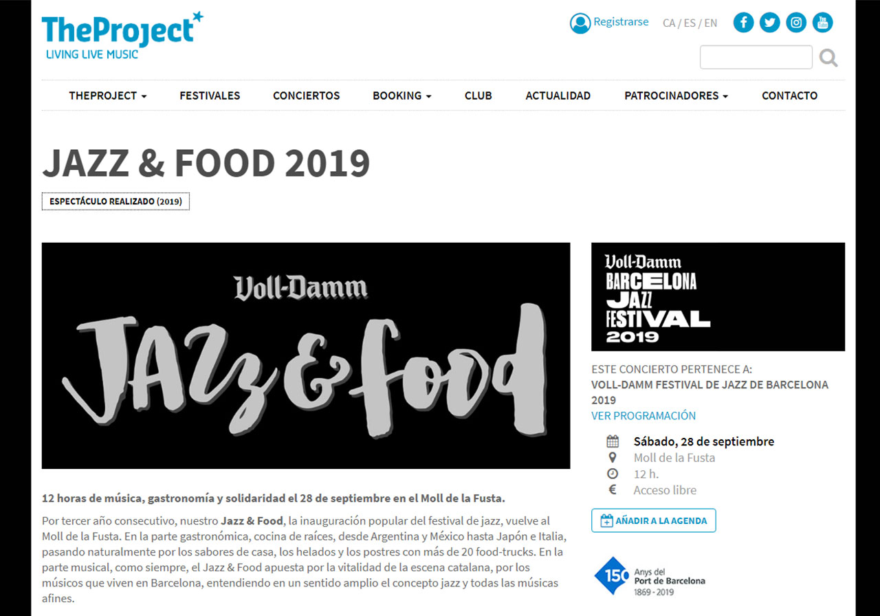 Google Display Festival Jazz & Food 2019