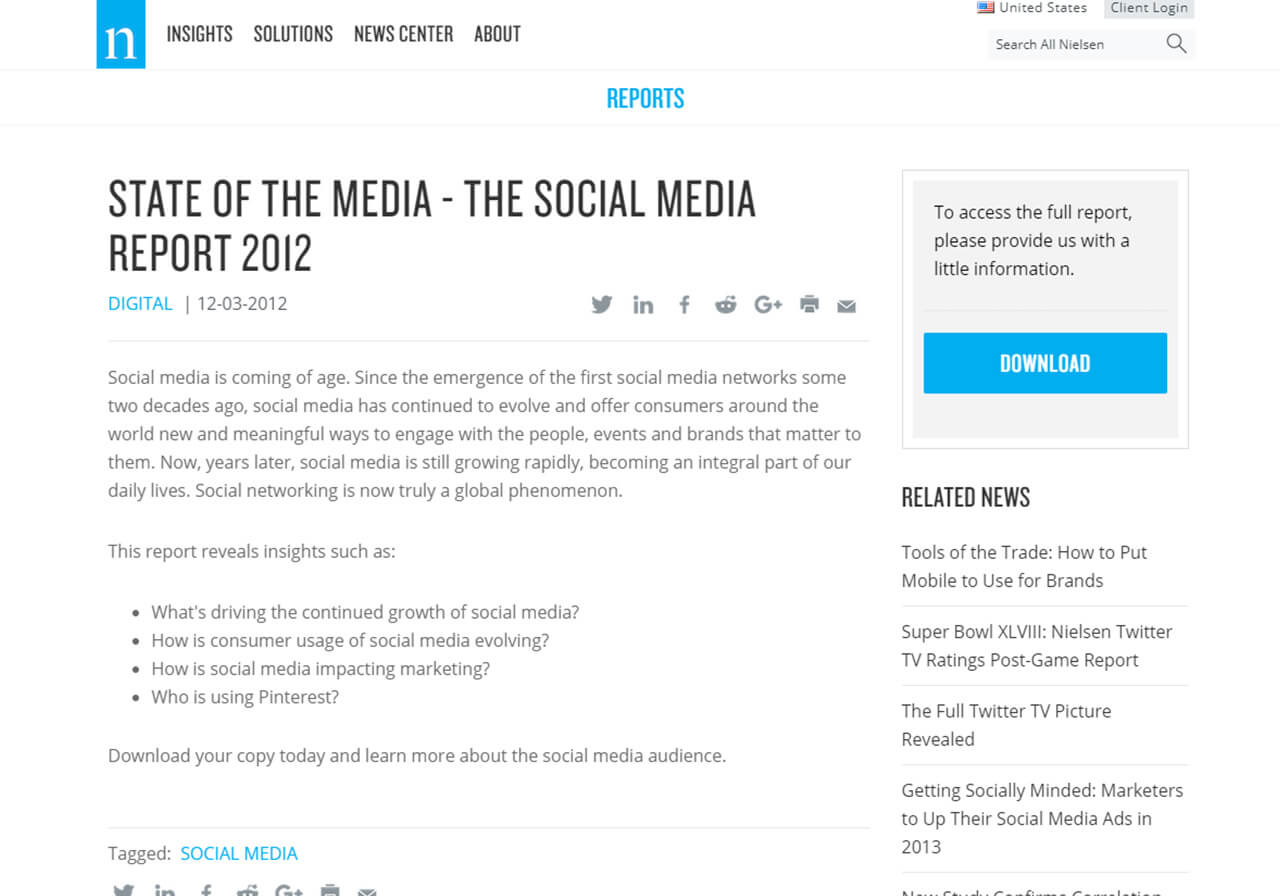 Nielsen Social Media Report