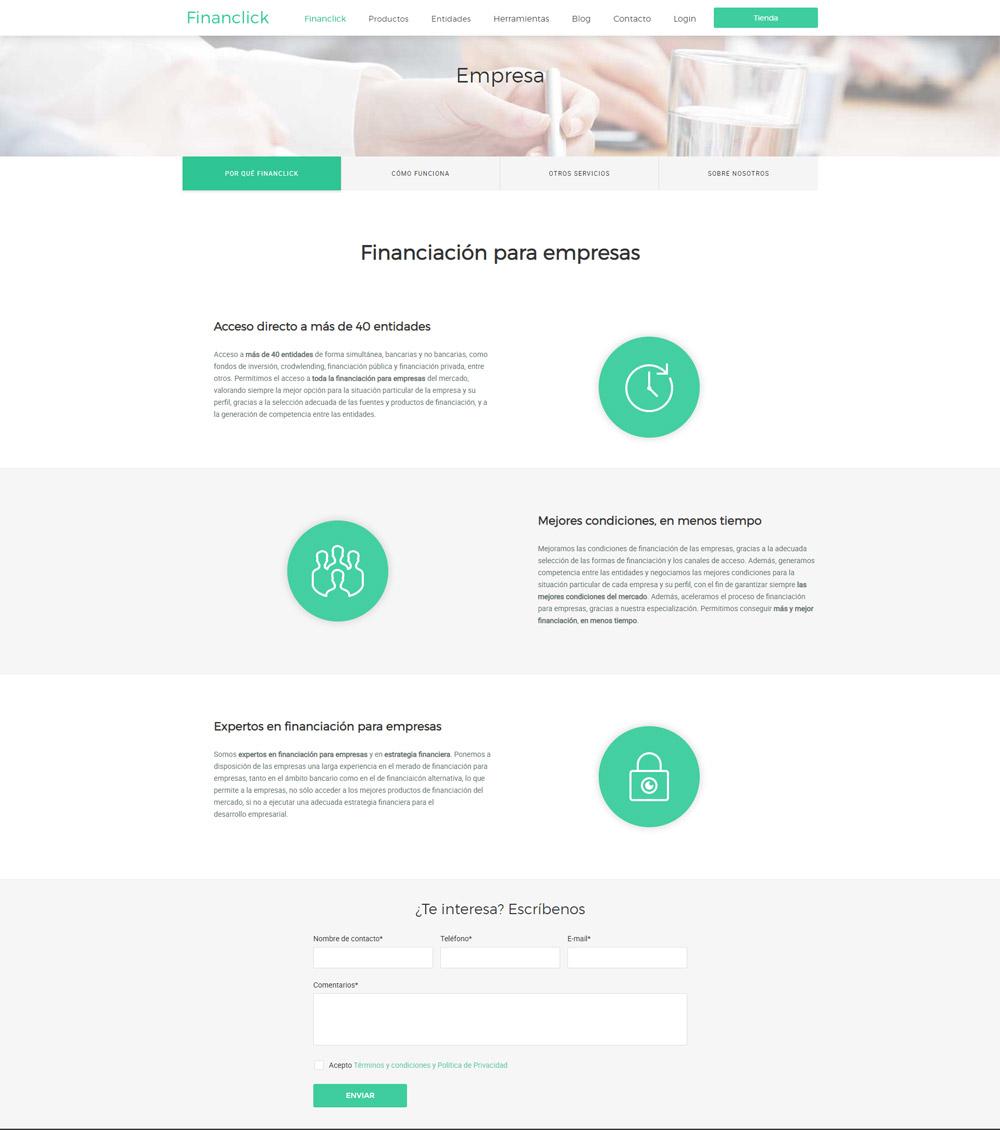Pàgina Qui som Financlick