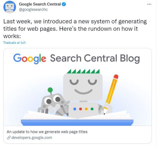 Google cambios titles