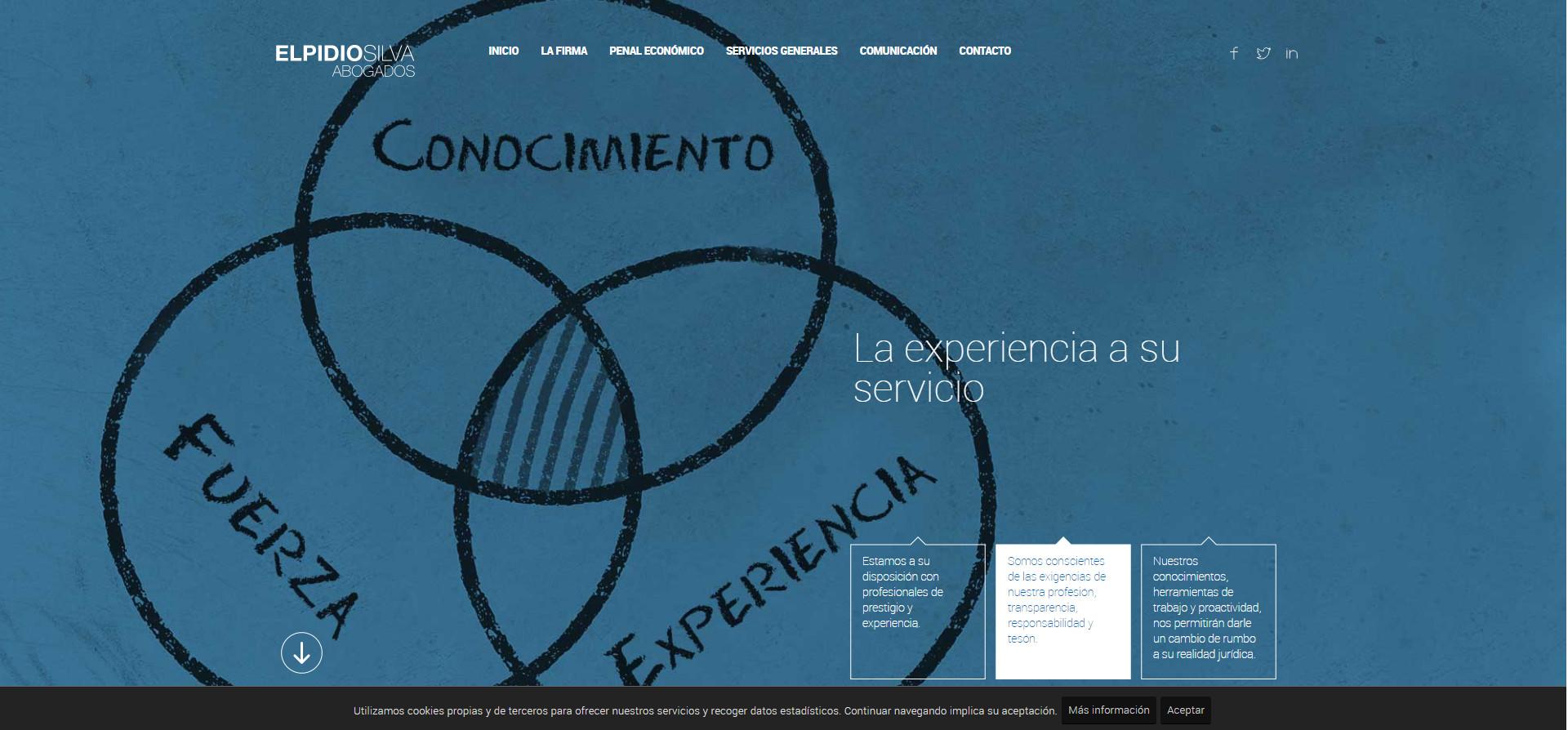 Imatge hero al web d'Elpidio Silva Abogados