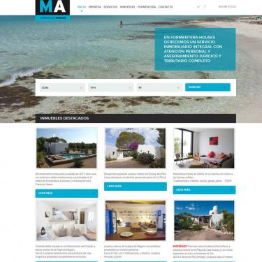 Online marketing and web design for Ma Formentera Houses