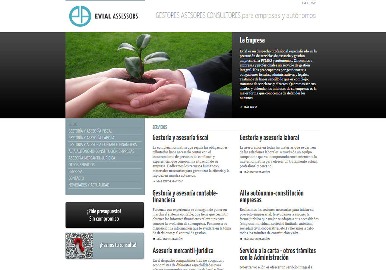 Web design for Evial Assessors consultancy