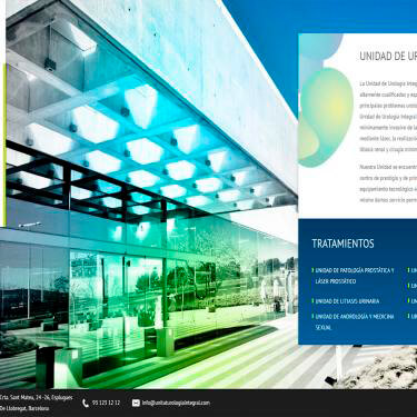 Corporate image and web design for Urology Barcelona
