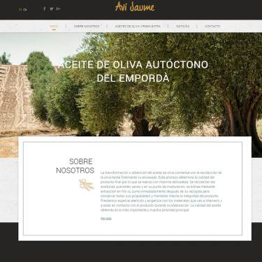 Web design for premium olive oil Avi Jaume