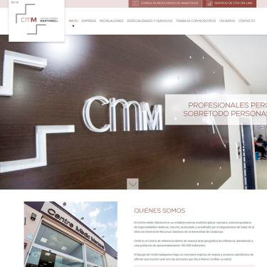 Web re-design for Centre Mèdic Martorell