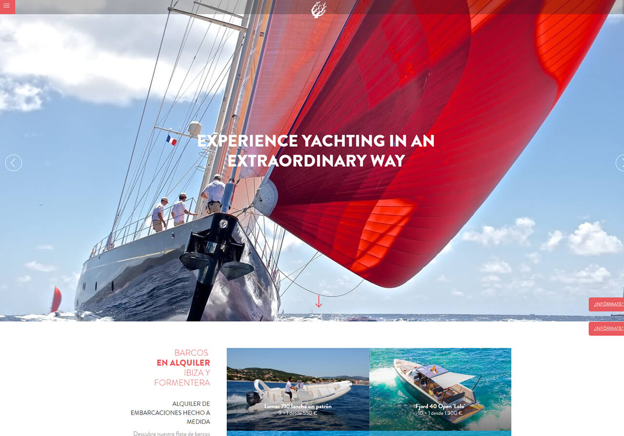 Marketing online and seo for Coral Yachting