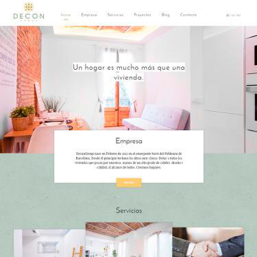 Web design for Decon Group