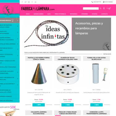 SEO and ecommerce for Fabrica tu Lámpara