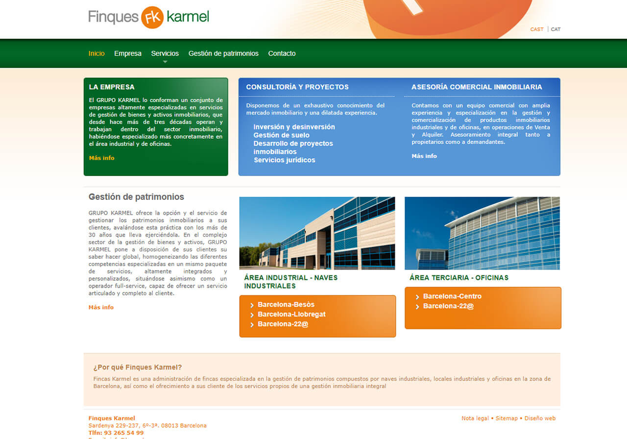 Web Design for Finques Karmel