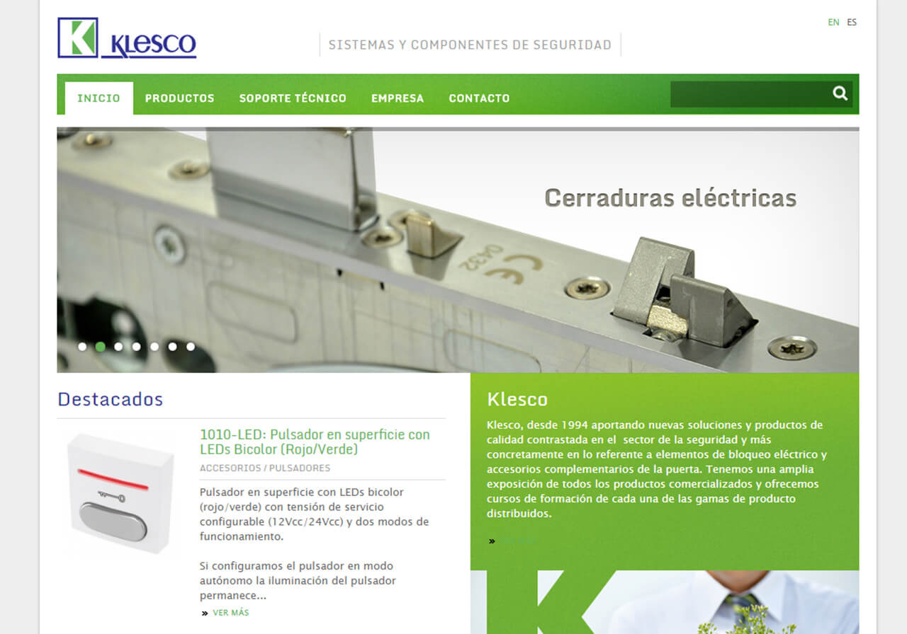 Corporate Web Design for Klesco