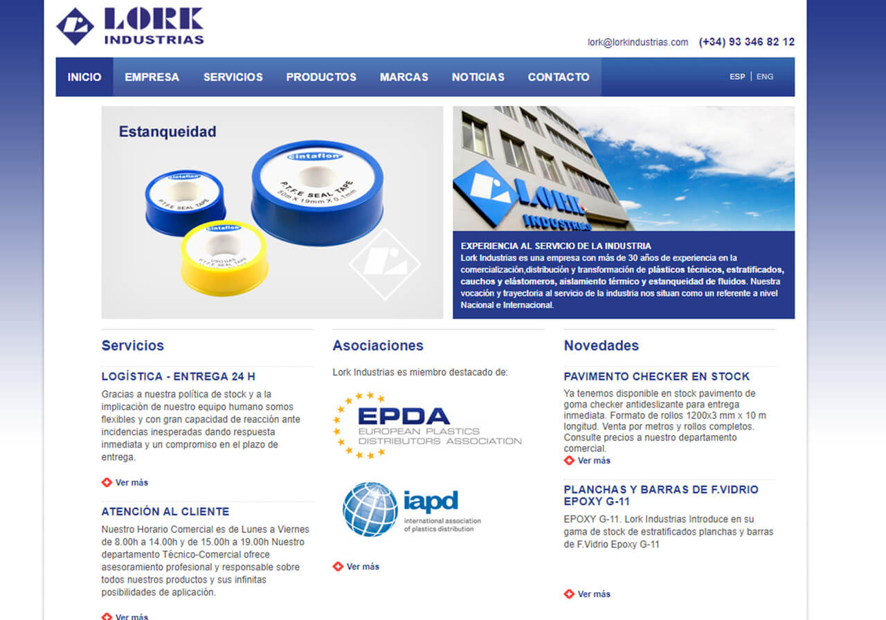 Lork Industrias Web Design