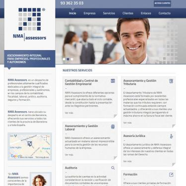 Corporate Web Design for NMA Assessors