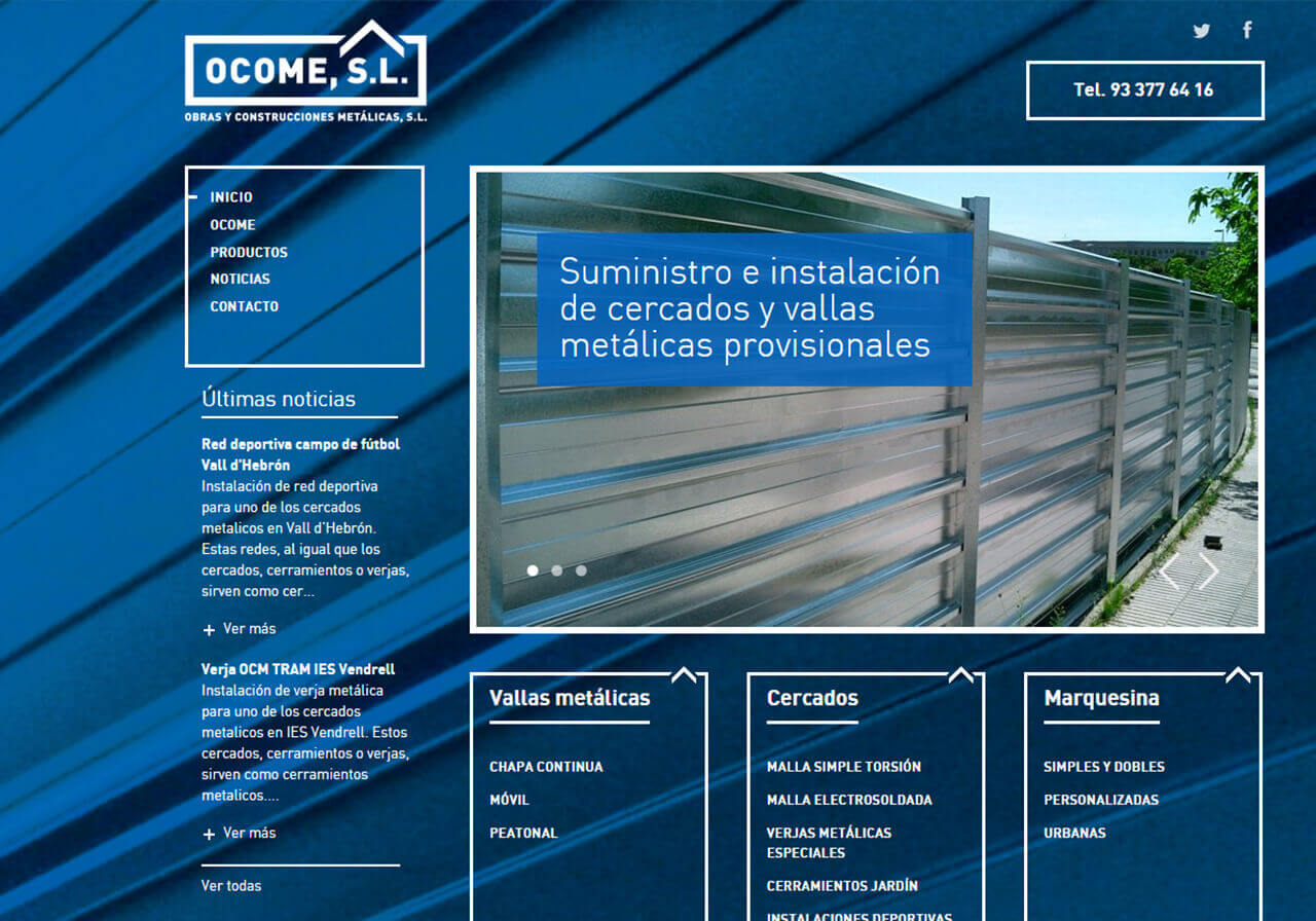 Web redesign for Ocome
