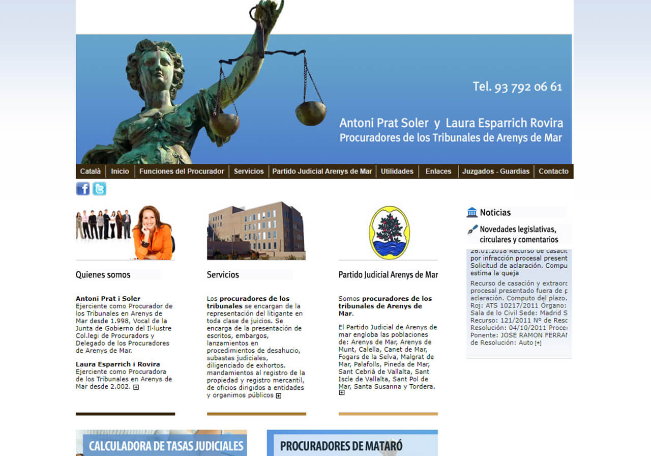 Web page creation for Arenys de Mar's Attorneys