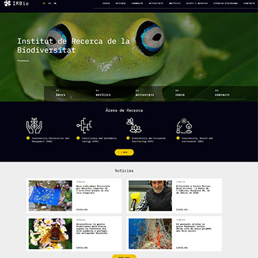 We design the website for the IRBIO (UB)