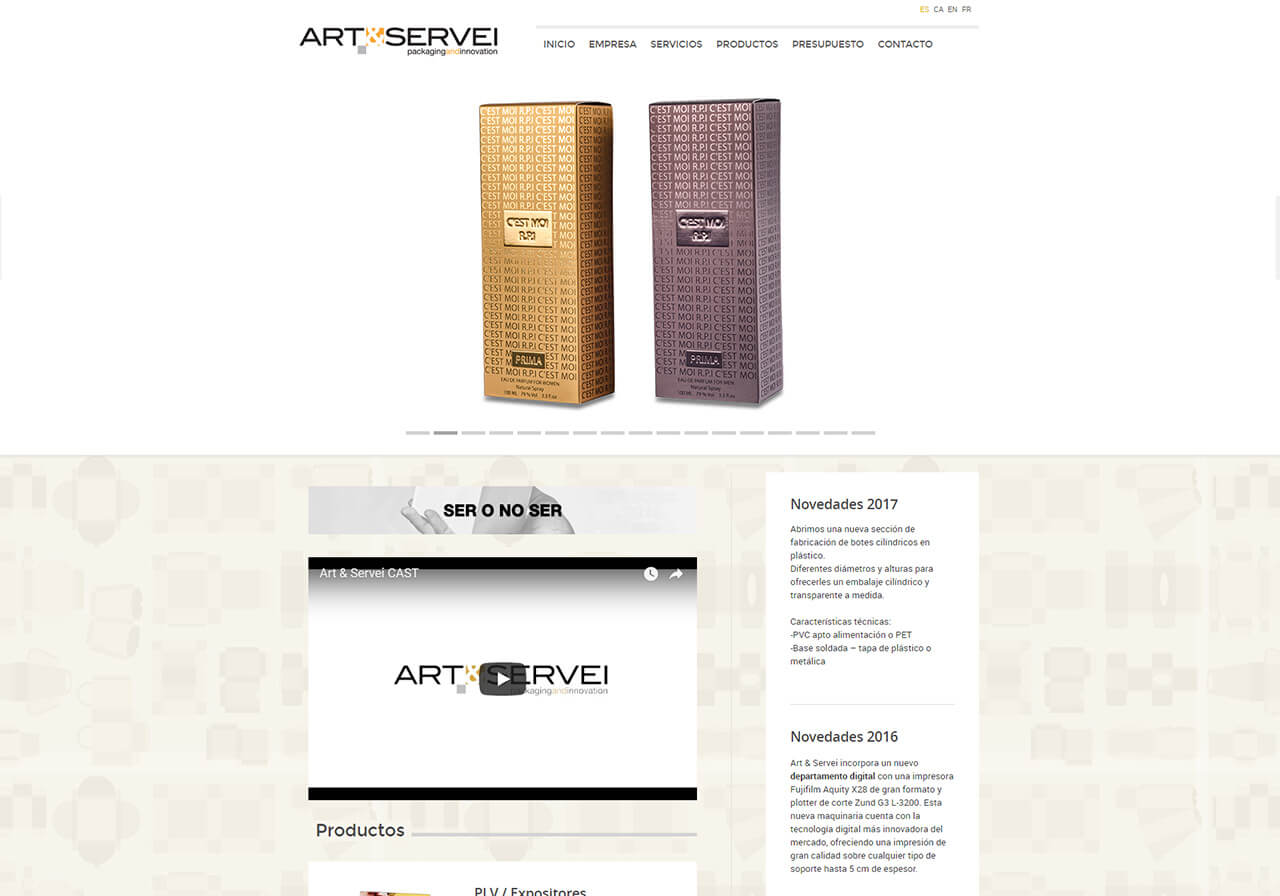 Web programming, web design and online marketing for Art&Servei