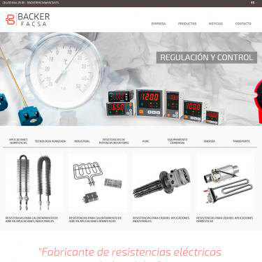 Web Design and SEO for Backer Facsa
