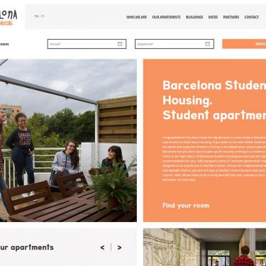 Web design: Barcelona Student Housing