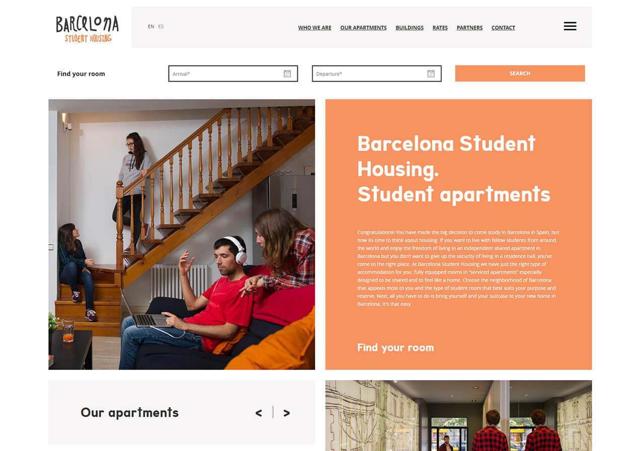 Intensive campaign during the summer for Barcelona Student Housing