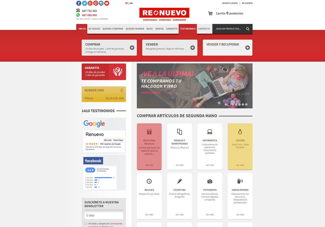 Renuevo, a second-hand e-commerce