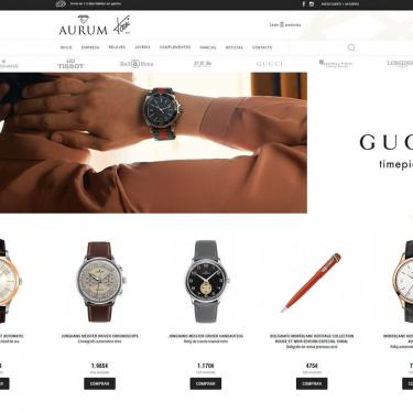 Web design and online marketing for Aurum Jewelry