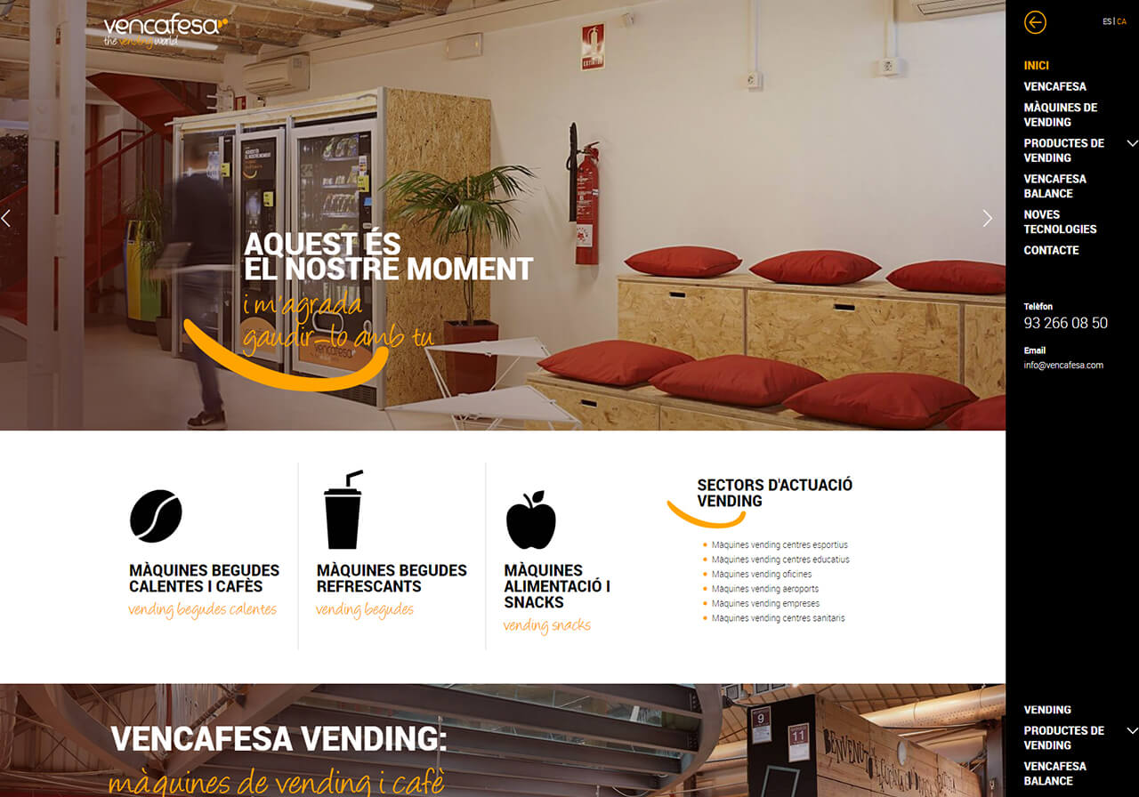 New web design Vencafesa