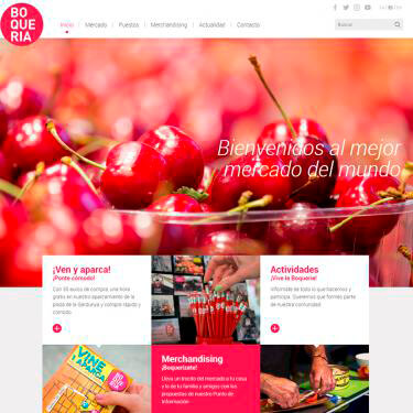 New website of La Boqueria